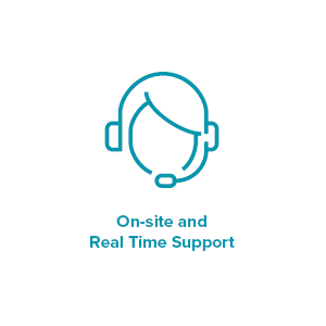 on-site real time support